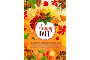 Autumn season and Thanksgiving Day banner design