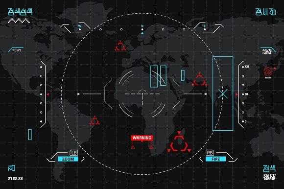 HUD And GUI Set Futuristic UI