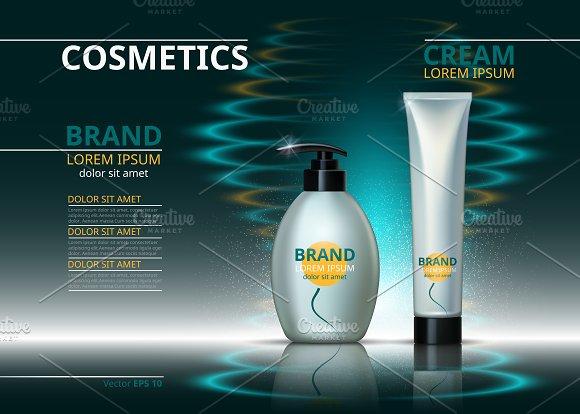 Vector Cosmetic Package Mockup