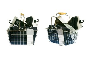 Shopping Basket With Clothes