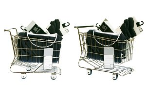Shopping Cart With Clothes