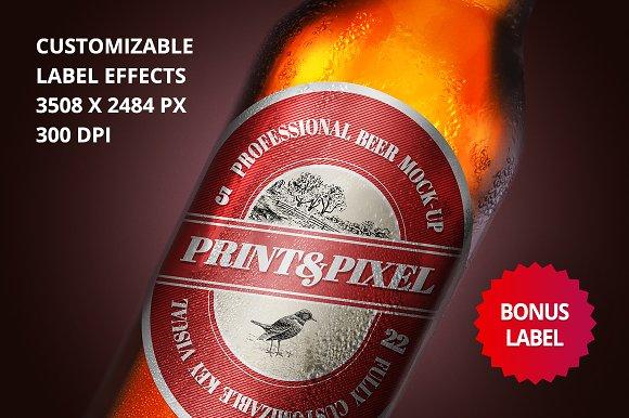 Beer Close-up Mock-up Label Design