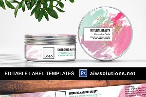 Watercolour Style Label - ID25