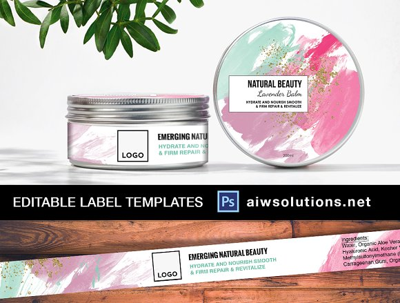 Watercolour Style Label ID25