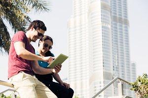 Tourists To Dubai Sending An Email Home