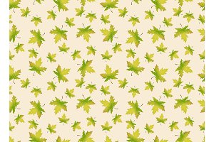 Autumn leaves. Seamles pattern