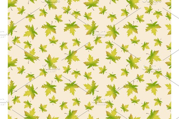 Autumn Leaves Seamles Pattern