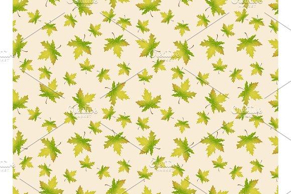 Autumn Leaves Seamles Pattern