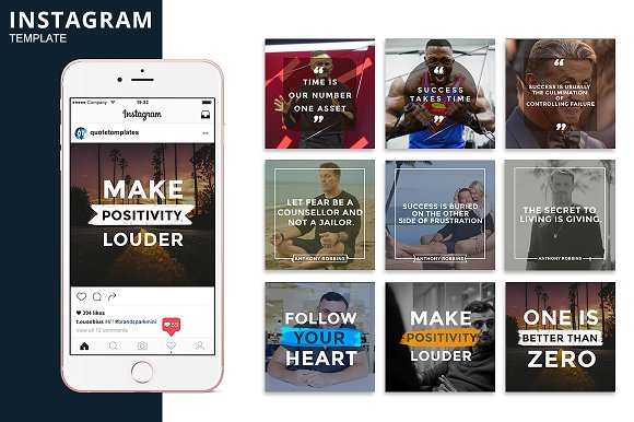 Instagram Positive Vibe Template