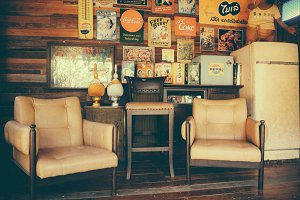Retro Vintage Living Room