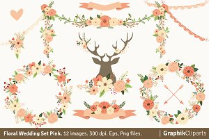 Floral Wedding Set Pink
