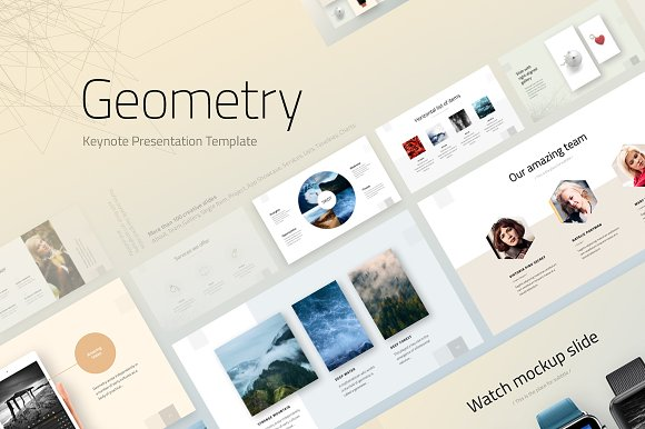 geometry keynote template presentation templates creative market