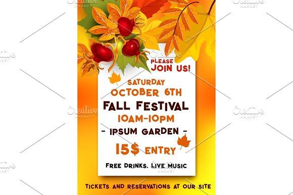 Fall Festival Of Autumn Harvest Banner Template