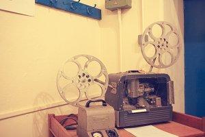 Vintage 8 mm film projector