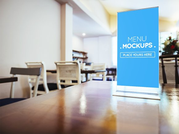 Table Tent Menu Mockup #1
