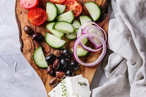 Ingredients for greek salad