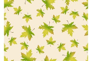 Autumn leaves seamless pattern. Endless background