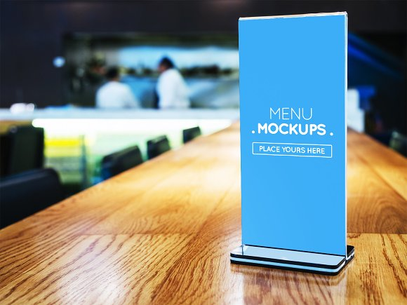 Table Tent Menu Mockup #9