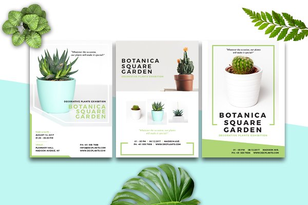 Flyer Templates: Rahardi Design - BOTANICA - Event Flyer & Poster