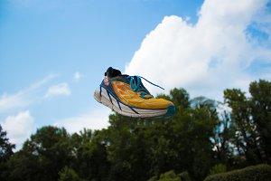 Running Shoe Background