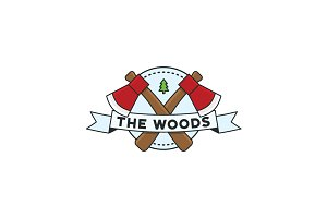The Woods - Round Badge