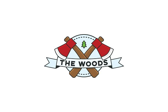 The Woods Round Badge