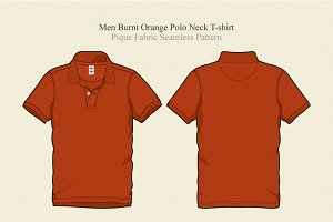 Men Burnt Orange Polo Shirt