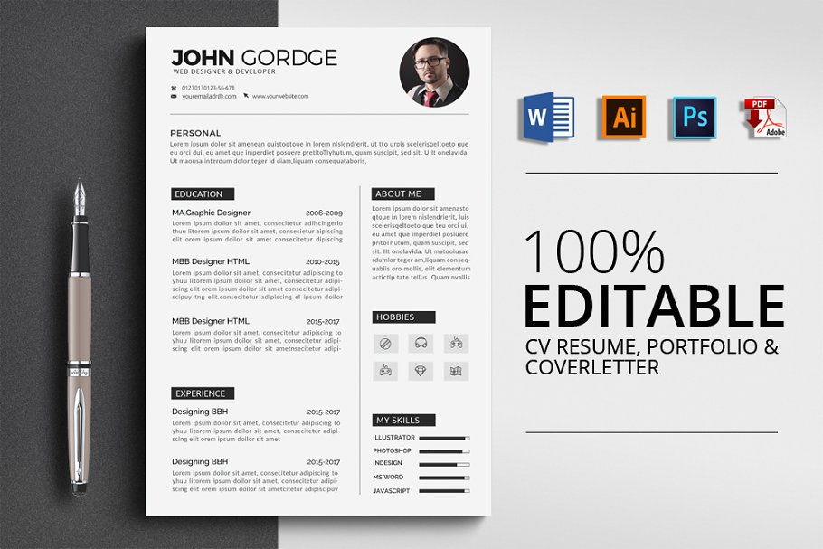 Cv Resume Resume Templates Creative Market