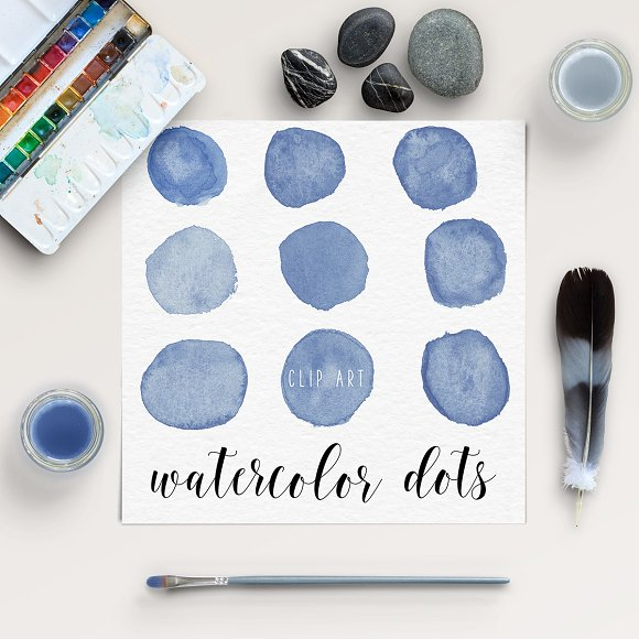 Hand Painted Watercolor Bubbles
