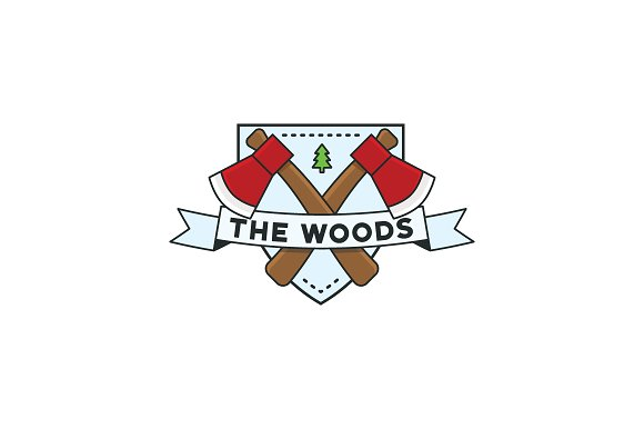 The Woods Shield Badge