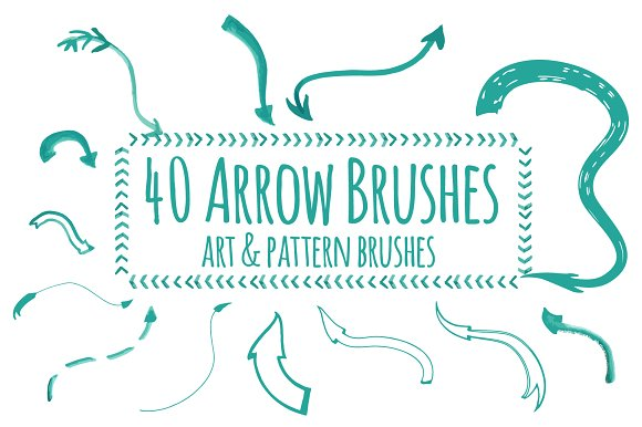 40 Hand-drawing Arrow Brushes