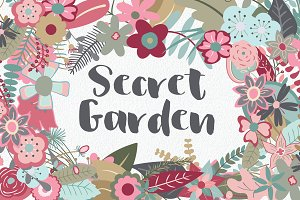 Secret Garden Floral Clip Art