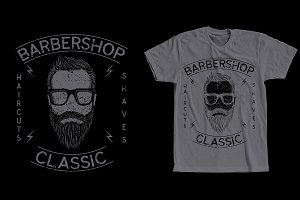 Barber Shop Classic Tshirt Design