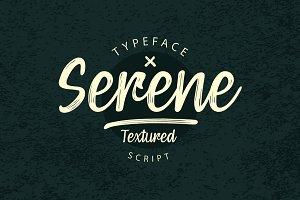 Serene Textured Script