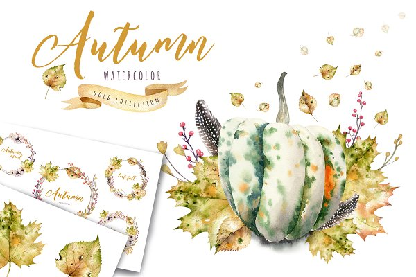 Watercolor autumn mood