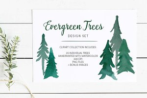 Evergreen Trees Clip Art