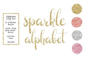 Sparkle Alphabet in 4 Colors