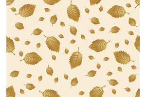 Autumn leaves endless background. Vector seamless pattern.