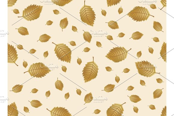 Autumn Leaves Endless Background Vector Seamless Pattern
