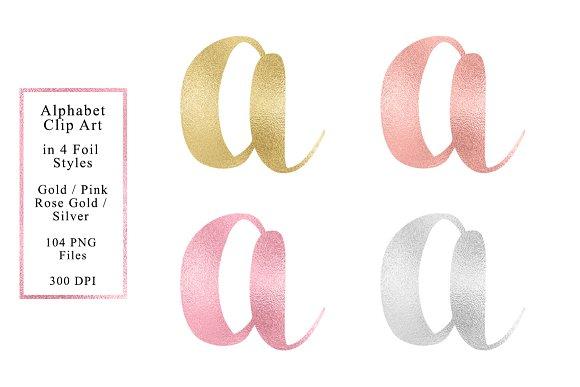 Foil Alphabet In 4 Colors