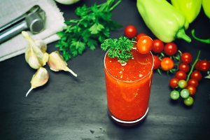 juice from a tomato