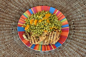 Peas Grilled Chicken