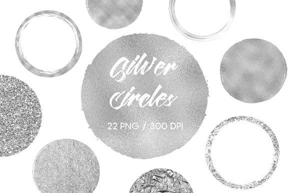 Silver Circles Clip Art