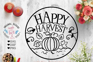 Happy Harvest Cut File (SVG PNG DXF)