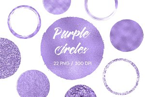 Purple Circles Clip Art