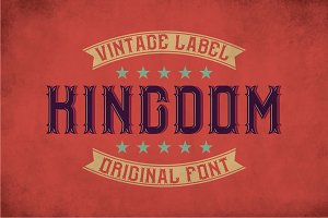 Kingdom Vintage Label Typeface