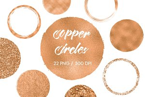 Copper Circles Clip Art