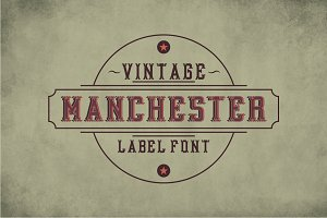Manchester Vintage Label Typeface