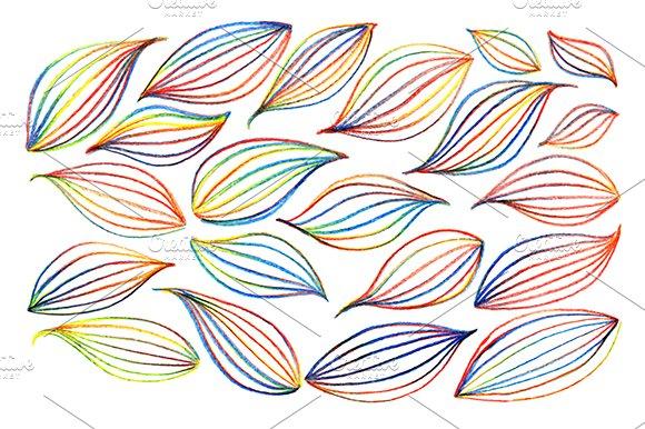 Colorful Rainbow Leaf Vector Art
