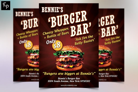 Bennie's Burger Bar Flyer